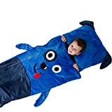 Kids plush sleeping bag with pillow (Dog)