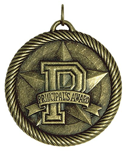 Hammond & Stephens Multi-Level Dovetail/Principals Value Medal, 2 Inches, Solid Die Cast, Gold