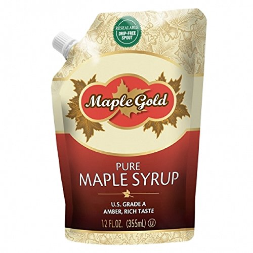 Maple Gold, Pure Maple Syrup, U.S. Grade A, Amber, Resealable Drip-Free Spout, 12 fl oz
