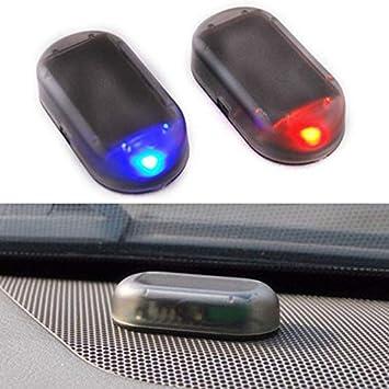 1pc Solar Car Dummy Alarm Led Leuchte Simuliertes Elektronik
