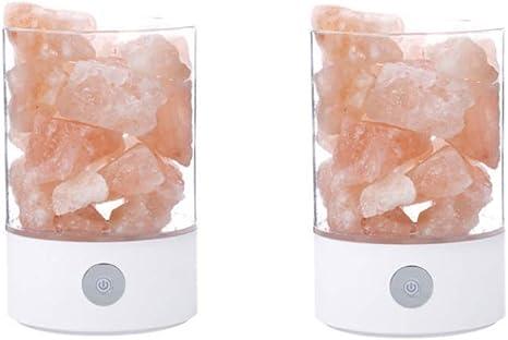 Natural Himalayan Salt Lamp Crystal Cube Rock Lamp Table Bedside Night Light 01