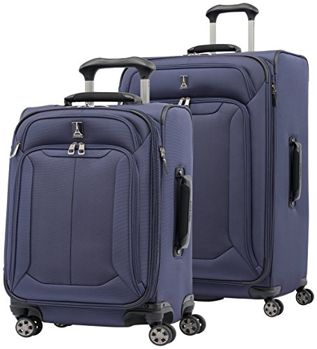 Travelpro Skypro Lite 2-Piece Expandable 8-Wheel Luggage Spinner Set: 29'' and 21'' (Navy) by Travelpro