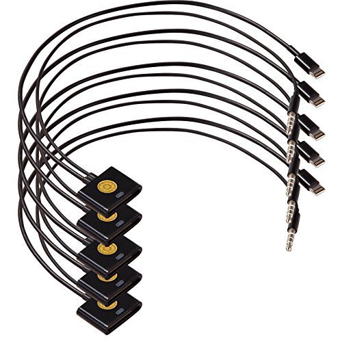 HIGH QUALITY Lightning 8 pin to 30 pin Cable Adapter with Audio Cable Cord for iPhone 6/ 6 Plus / 5 / 5S / 5C, iPad Air, iPad mini , iPad 3 4, iPod Nano (7th gen), and iPod Touch (5th gen)-5pack (black)