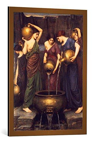 kunst für alle Framed Art Print: John William Waterhouse Die Danaiden - Decorative Fine Art Poster, Picture with Frame, 23.6x33.5 inch / 60x85 cm, Copper Brushed