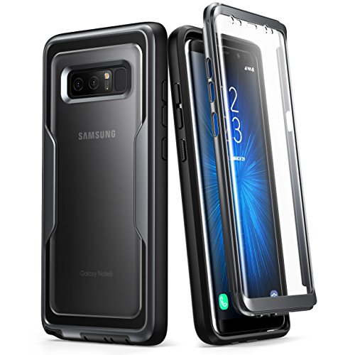 Samsung Galaxy Note 8 Case,i-Blason [Magma Series] Built-in Screen Protective Clear Back Cover With Holster [Heavy Duty] Belt Clip Shell for Note 8 (Black)