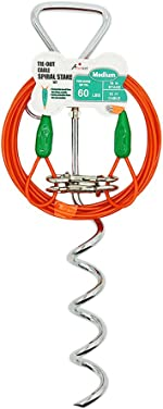 Petest Tie-Out Cable with Crimp Cover for Dogs Up to 35/60/90/125/250