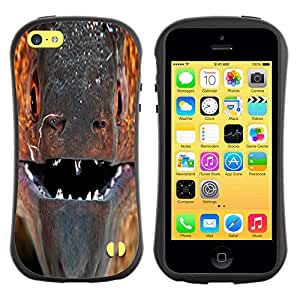 Pulsar iFace Series Tpu silicona Carcasa Funda Case para Apple iPhone 5C , murena ryba past vzglyad makro