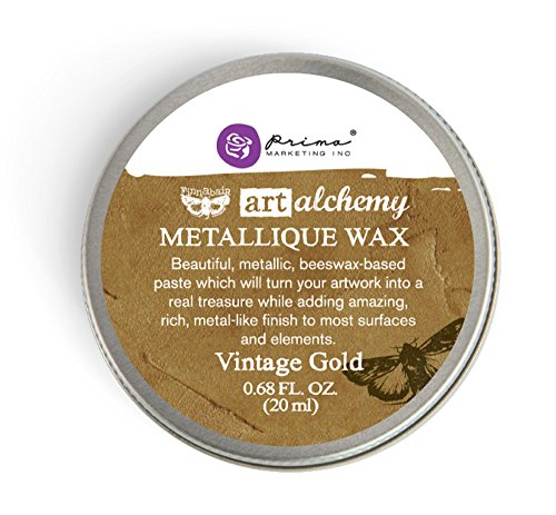 Prima Marketing Art Alchemy-Metallique Wax-Vintage Gold ()