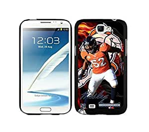 NFL&Denver Broncos-Wesley Woodyard_Samsung Note 2 7100 Case Gift Holiday Christmas Gifts cell phone cases clear phone cases protectivefashion cell phone cases HLNA605585823