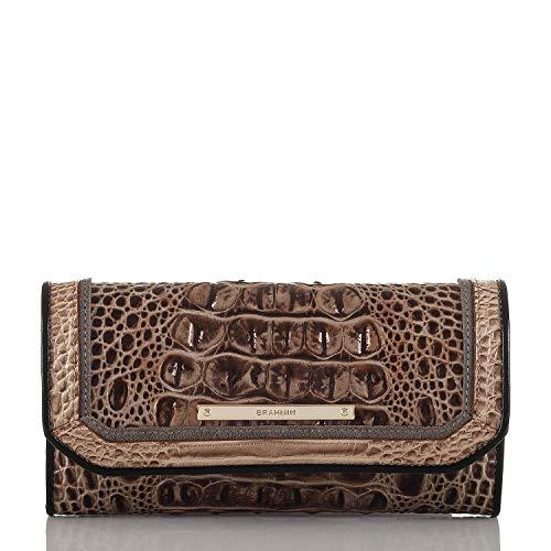 Brahmin Soft Checkbook Wallet Tri - Color Bark Mitford