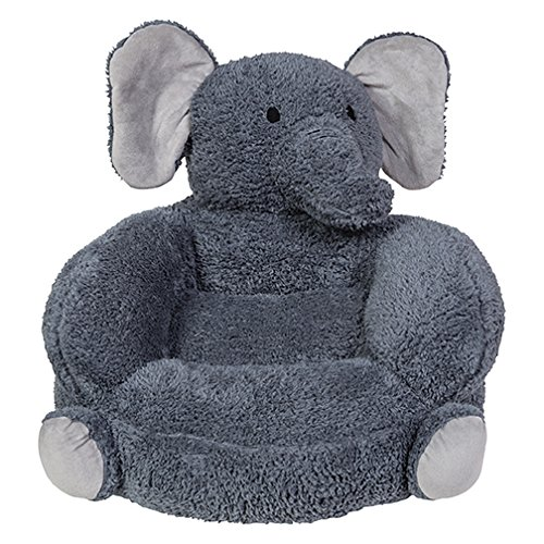 Trend Lab Children's Plush Character Chair, Elephant/Gray