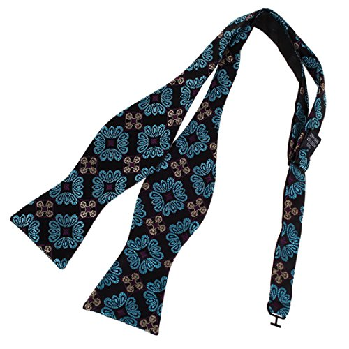 Dan Smith DBA7B10B Green Shandmade Gift Patterned Self-tied Bowtie Discount For Boyfriend Microfiber Mens Woven Polyster Self Bow Tie