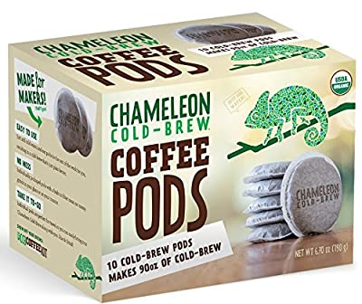 CHAMELEON COLD-BREW, Coffee Pod, Og2, Cold Brew, Pack of 6, Size 10 CT, (Dairy Free Vegan Wheat Free Yeast Free 95%+ Organic)