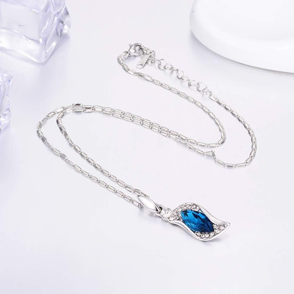TrifyCore Valentine Fashion Style Bijoux Set 1 Set Teardrop Strass Cristal Boucles doreilles Bracelet et Collier pour d/ésherber Soir/ée