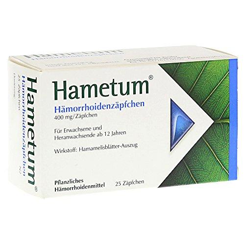 HAMETUM HAEMORRHOIDEN Suppositorien 25St SPITZNER ARZNEIMITTEL 7619576