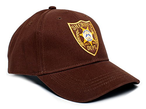 Walking Dead Hat Sheriff's Dept Appliqué Unisex-Adult One-Size Cap Brown - The Walking Dead Hats