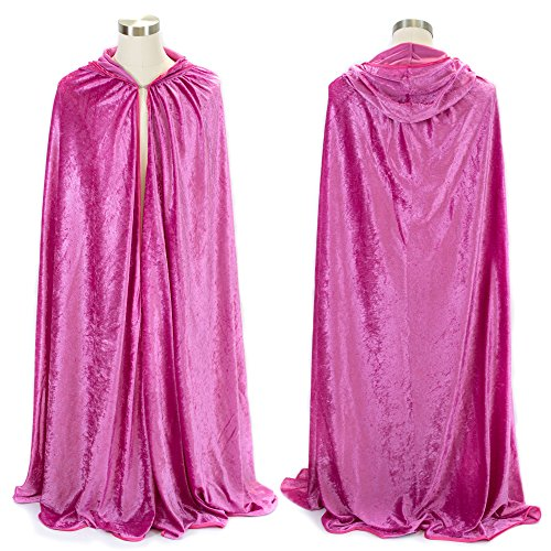 ed Cape | Cloak with Hood for Halloween, Cosplay, Costume, Dress Up (Pink Princess Cape)