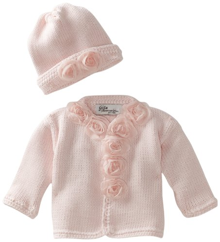 Gita Accessories Baby-Girls Newborn Sweater And Hat Set