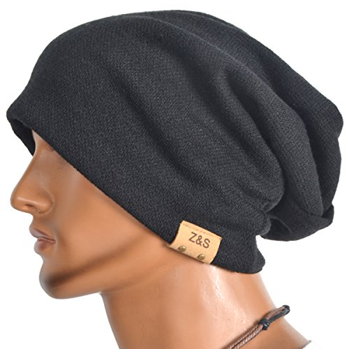 6e4c74389f3 VECRY Men s Cool Cotton Beanie Slouch Skull Cap Long Baggy Hip-hop Winter  Summer Hat
