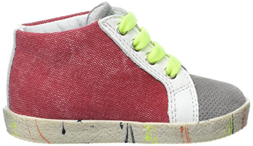 Naturino Unisex Baby Falcotto 1528 Sneaker Rouge (Piombo bianco rosso)