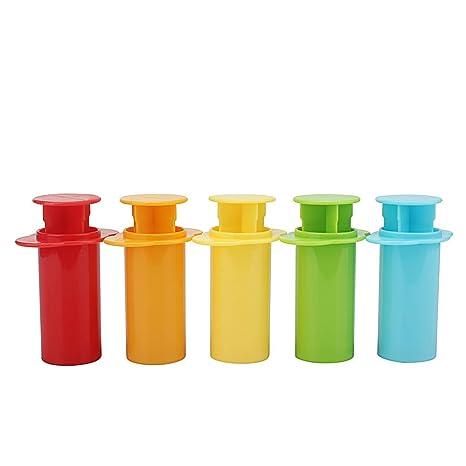 Dosige 5PCS Juguetes para niños, molde de plastilina, molde de forma de jeringa, moldes de bricolaje ...