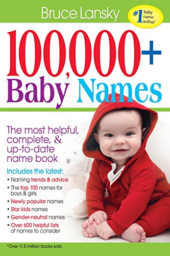 100 000 Baby Names The Most Helpful Complete Up To Date Name