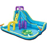 LT Obstacle Course Waterpark with Slide Water Cannon Outdoor Home Swimming Inflatable