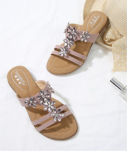 Terrasse Damen Hausschuhe Sandals Purple Präsident Walking und coole Damen Women's Strand coole böhmische Comfort Shoes Sandalette Shoes Hausschuhe Sandalen Sandalen Lounge 1pAUqFwa