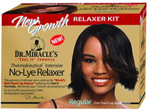 Dr. Miracle's New Growth Intensive No-Lye Relaxer Kit Regular, 1 ea (PACK OF 4)
