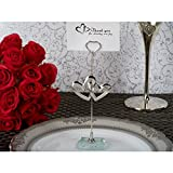 Cassiani Two Hearts Become One Silver Place Card Holder - 36 Pieces