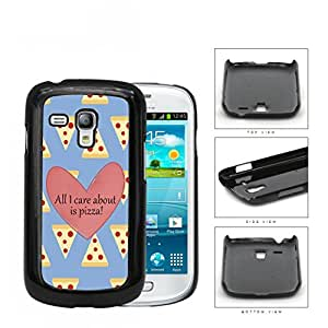 All I Care About Is Pizza Pink Heart And Pizza Pattern Samsung i8190 Galaxy S3 (MINI) Hard Snap on Plastic Cell Phone Cover