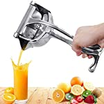 Hunk shopper's Stainless Steel Manual Fruit Juicer Hand juicer, Fruit juicer Manual juicer Instant juicer Orange juicer, Steel Handle Juicer | Manual Lemon Juicer