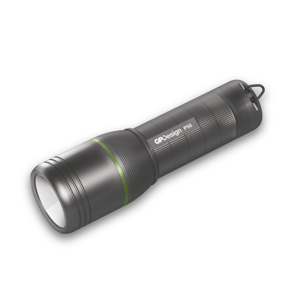 GPDesign Torch- Multi-Purpose Pro P55 Flashlight - Tough and Rugged Design for Outdoor Use and All Daily Activities GP Batteries
