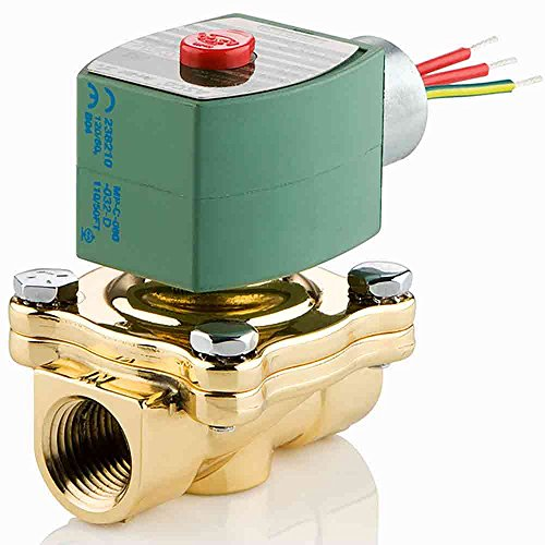 ASCO 8210G095-240/60,220/50 Brass Body Pilot Operated General Service Solenoid Valve, 3/4