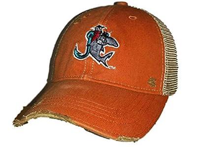 Jupiter Hammerheads Retro Brand Orange Worn Style Adj Snapback Mesh Hat Cap