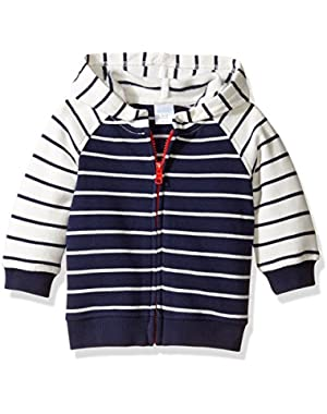 Baby Boys'' Hooded Zip Sweater
