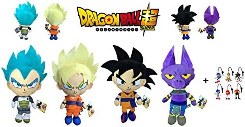 Dragon Ball Super - Pack 4 Peluches 22cm Calidad Super Soft Goku ...