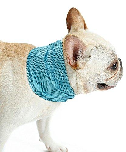 半球ストロー管理犬マフラー ペット用冷感首輪クールバンダナ 熱冷ましマフラー 接触冷感タオル 清涼スカーフ 夏暑さ対策 熱中症対策グッズ ブルーS/M/L