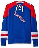ny rangers crewneck - NHL New York Rangers Men's Centre Long Sleeve Crew Neck Pullover Sweatshirt, Medium, Royal/Red/White