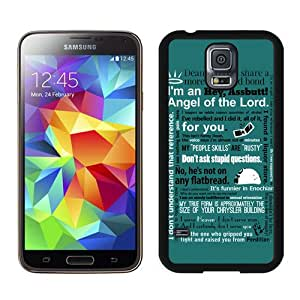 Castiel Supernatural Black Best Buy Customized Design Samsung Galaxy S5 I9600 Case