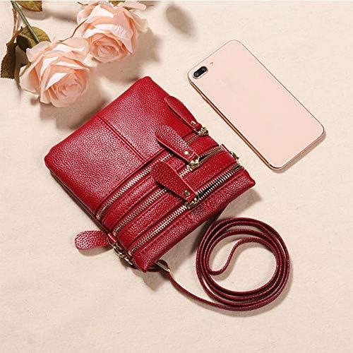 女性の本物の革の多機能電話バッグソリッドクロスボディバッグ YZUEYT