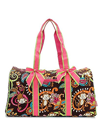 Handbag Inc Quilted Monkey Print Large 20