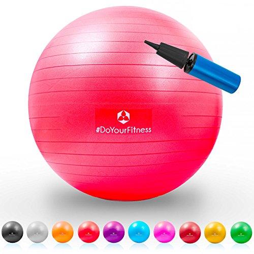 Gymnastik-Ball »Pluto« / Robuster Sitzball und Fitnessball / 85 cm / rot