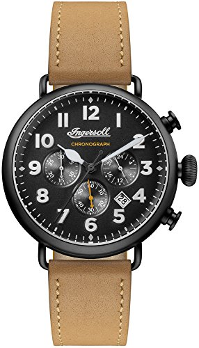 Ingersoll Men's Automatic Stainless Steel and Leather Casual Watch, Color:Brown (Model: I03502)