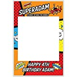 Superhero SuperKid Selfie Frame Photo Booth Prop Poster