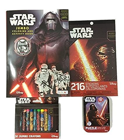 Star Wars Kylo Ren Coloring Book Sticker Puzzle On The Go And