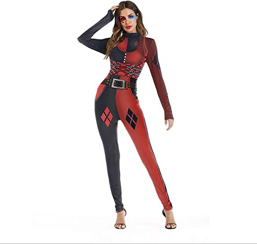 SHANGLY Gracioso Mujeres Bodysuit Halloween Catsuit Deadpool ...
