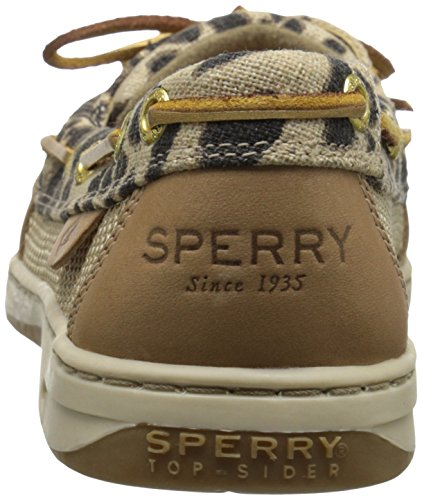 Sperry Top-sider Womens Angelfish Båt Sko Leopard Sengetøy