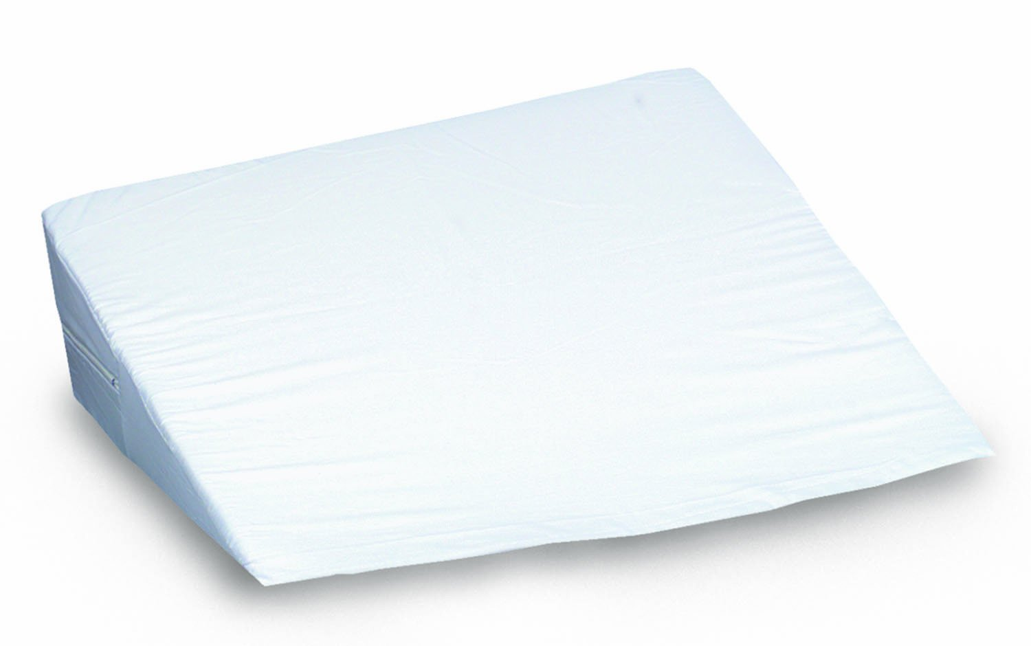 Mabis Dmi Healthcare Foam Bed Wedge for Head, Foot or Leg Elevation, Helps Ease Respiratory Problems and Reduces Neck and Shoulder Pain, Washable Cover, 10 inch x 24 inch x 24 inch, White