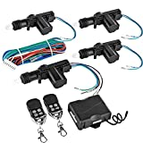 central locking system - Flexzion Universal Car Keyless Entry System Kit 4 Door Power Central Locking Actuator Motors with 2 Remote Controllers Lock Unlock Conversion for Vehicle Vans SUV Truck